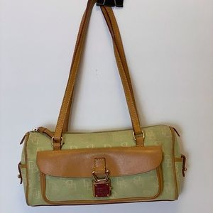 DOONEY & BOURKE SIGNATURE CANVAS HANDBAG